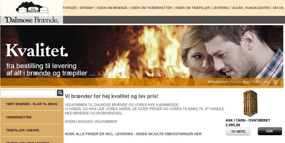 Dalmose Brænde hjemmeside
